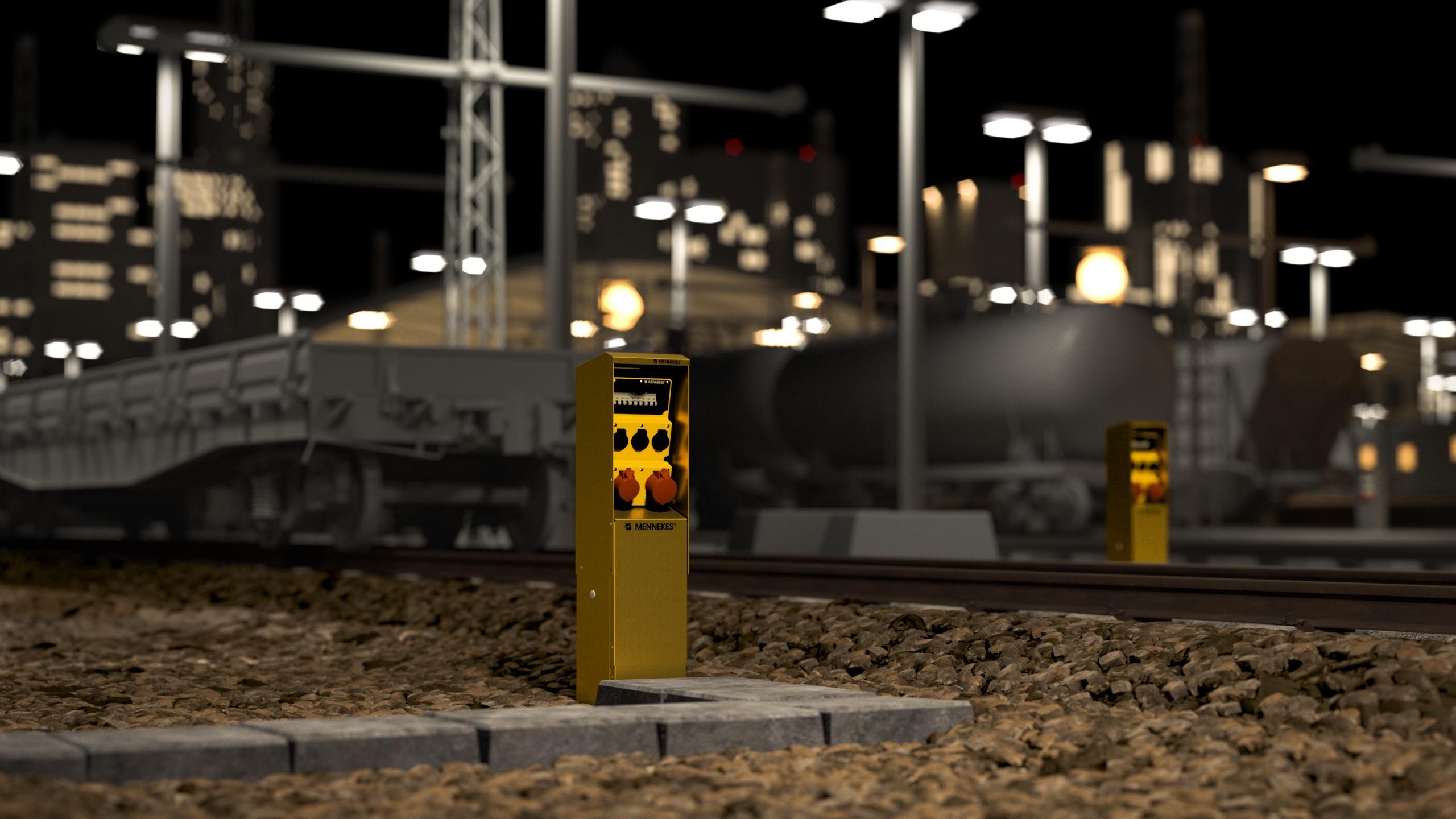 Mennekes Produkt Bahnhof Vorfeld